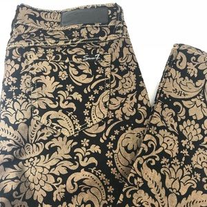Seven7 Skinny Jeans Gold and Black Size: 4 Stretch